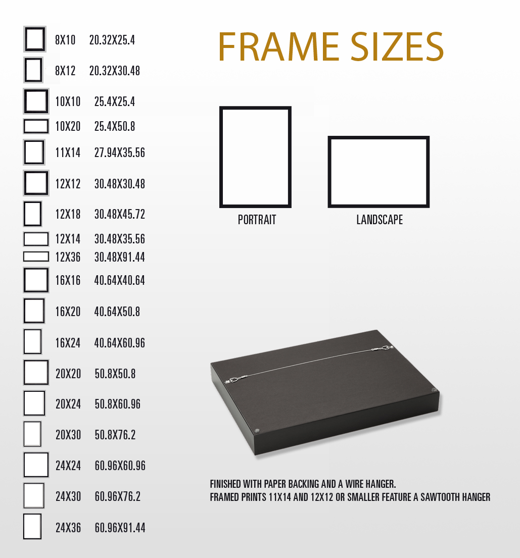 a68006ee4eb ... 12 30 48 Frame Sizes. Ronnymac Com Turn Your Photo Into A Piece Of Fine  Art